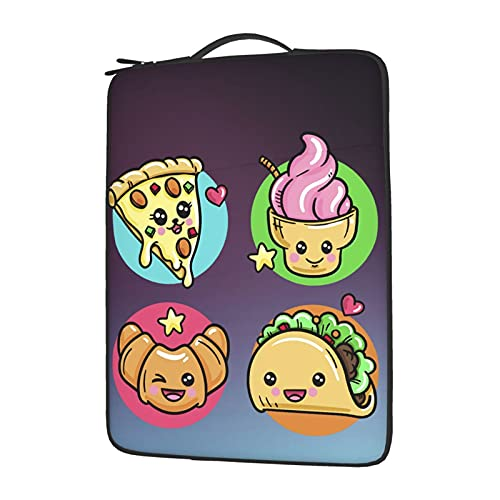 wobzfrok Kawaii Food (2) Laptop Cover Protective Carrying Case Cover for 13in14in15.6in Lenovo Dell Hp Asus Acer Chromebook, Plush Laptop Bag Inside 14 Inch
