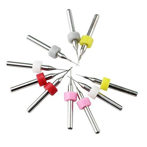 CESFONJER 10 Stücke Düse Reinigungswerkzeug Kit, für 3D Drucker Extruder Düsen Reiniger Kit (0,2mm 0,3mm 0,4mm 0,5mm 0,6 mt jeder größe 2 stücke)