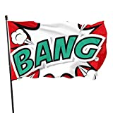 Oaqueen Flagge/Fahne Bang Comic Background Garden Flag Yard Home Outdoor Decor Durable and Fade Resistant 3'x5' FT