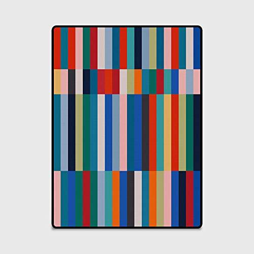 LJN Home Tappeto di Design Moderno Tappeti contemporanei Tappeto da Salotto in Stile Etnico con Strisce multicolore-120 × 160 cm