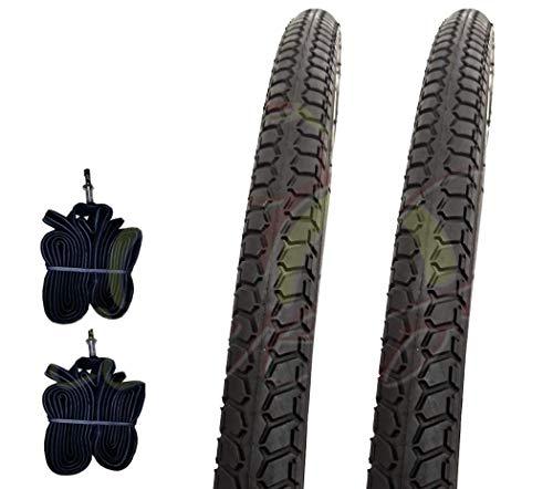 Country 2 COPERTONI Nero +2 CAMERE d'Aria per Bicicletta Bici City Bike Trekking 700 X 35 28 1 5/8 3/8 (37-622) 700X35C