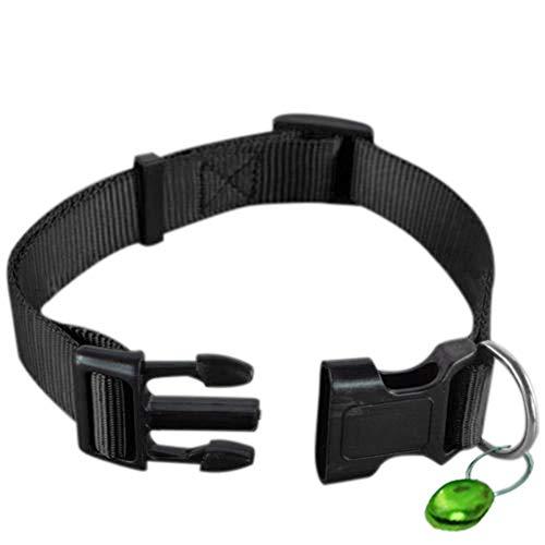 H87yC4ra Verstellbares Hundehalsband mit Glöckchen, modisches Nylon-Haustier-Halsband mit Schnalle für Welpen, Katzen, langlebig, Blau, S