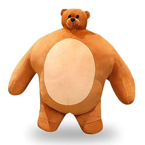 UKETO Tiny Head Teddy Bear -Small Head Stuffed Bear Muscle Body Boyfriend Hug Pillow,Hugging Cute Squishy Adorable Pillow Gifts?47cm/18.5in?