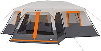 Ozark Trail 12-Person 3-Room Instant Cabin Tent with Screen Room (Orange)
