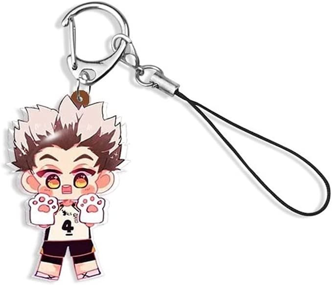Haikyuu Keychain Kotaro Bokuto Epoxy Resin Haikyuu Volleyball Boys Anime Keyring Cute Handmade Jewelry 06