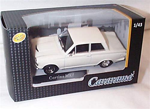 cararama Ford Cortina MK1 White vehicle 1:43 scale diecast model