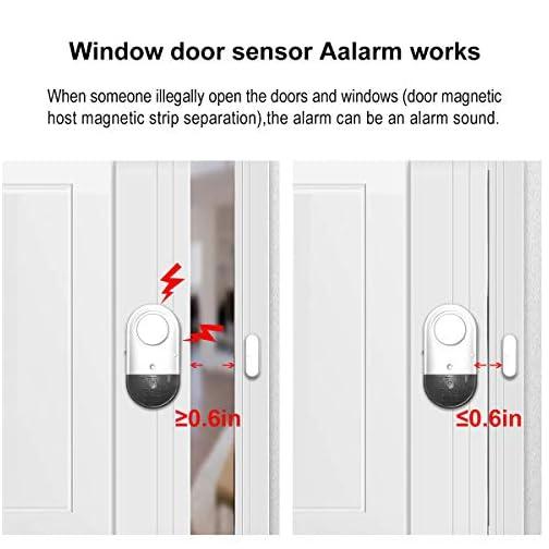 Door Window Alarm, Toeeson 120DB Door Alarms for Kids Safety, Window Pool Alarms for Home 5