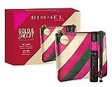 Rimmel London, Confezione Regalo Donna Gold & Shock Collection Day 2 Night Kit, Pochette Metalizzata...