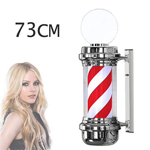 73 cm LED Retro kapsalon LED teken licht waterdicht wandbehang salon roterende verlichting (Red & White)
