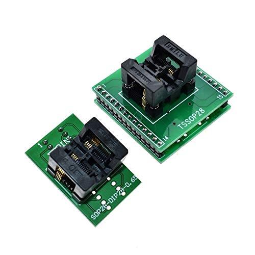 Stayhome TSSOP8 a DIP28 Adaptador TL866A TL866CS Programador Adaptador SSOP8 a DIP28 IC Test Socket Adapter 0.65mm Paso