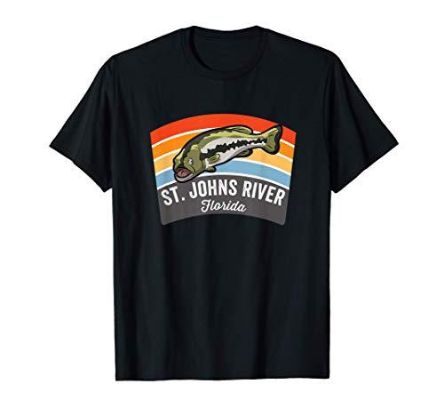 St. Johns River Florida Largemouth Bass Fishing T-Shirt