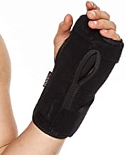 BraceUP Night Sleep Wrist Support Brace, Lightweight Splint with Cushioned Pads for Carpal Tunnel