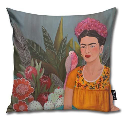 Frida A La Casa Azul - Federa per cuscino in cotone, 45 x 45 cm