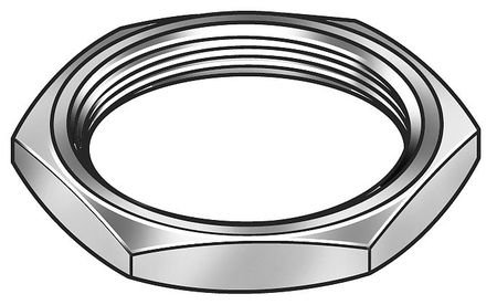 Panel Nut, 1/2-28, Hex, Stainless, Plain