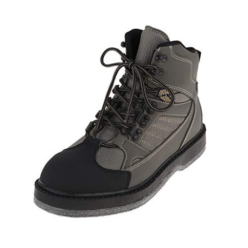 CUTICATE Zapatos Botas de Pesca Senderismo Botas de Seguridad Zapatos de Vadeo Transpirables para Pesca con Mosca, Escalada en Roca, Corriendo