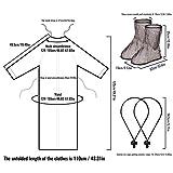Irich Wasserdicht Kochschürze mit Taschen, Überschuhe Shoe Covers Wiederverwendbare für Küche Kochen Backen - 5