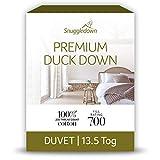 Snuggledown Wash/Dry Me Plumas y plumón de Pato 13,5TOG Funda de edredón, algodón, Color Blanco, Super-King