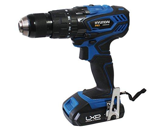 Hyundai HYBT0191 Hammer Drill, 18 V, Black/Blue, 1.27