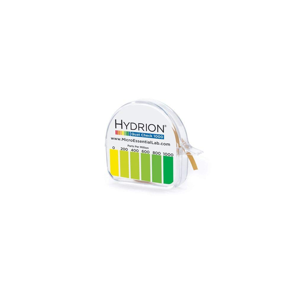 Hydrion Excellence Single Roll QC-1001 Quat Check Test Paper w Dispenser In a popularity