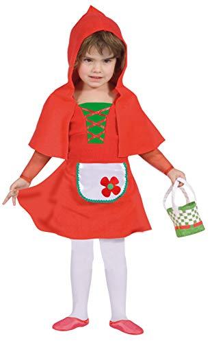 FIORI PAOLO–Baby Caperucita disfraz niña Girls, Rojo, 3–4años, 61336.3–4