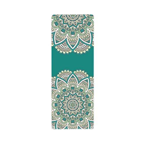 JISHI Caucho Natural Estera De Yoga Estera De Yoga Antideslizante Toalla Plegable Portátil (Color : 01, Size : Large)