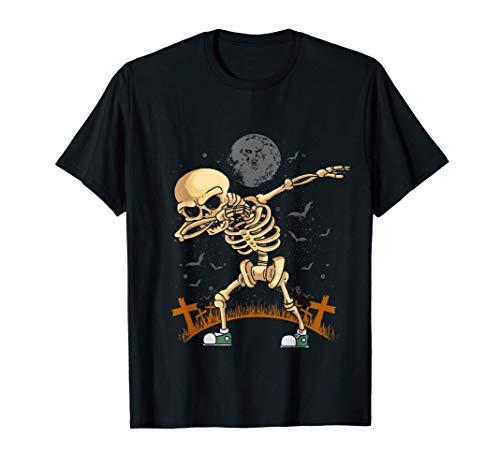 Dabbing Esqueleto Calabaza Disfraz de Halloween Regalo Niños Camiseta