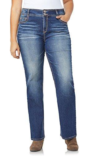WallFlower Junior's Plus-Size InstaStretch Luscious Curvy Bootcut Jeans, Jenna, 18 Plus