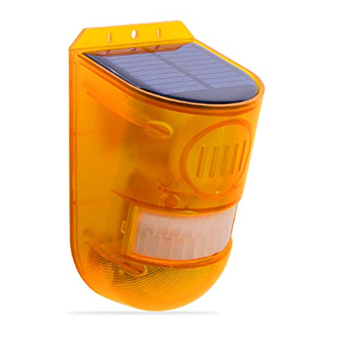 Solar Security Light Alarm, Waterproof Solar Power Light Sound Siren Alarm for System Motion Sensor Flashing Light Lamp for Outdoor Farm Barn Yard