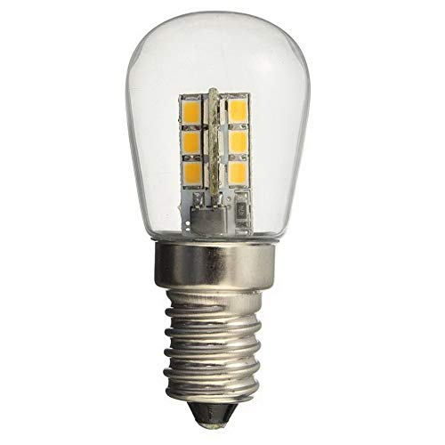 Página de inicio AC 220/AC110V bombilla LED E14 SMD 24 LED de alto brillo pantalla de cristal lámpara blanca cálida pura para máquina de coser refrigerador