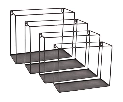 Meinposten. 4 planken, wandplanken, plank, zwart, metaal, wandplank, metalen plank, breedte 29-34 cm