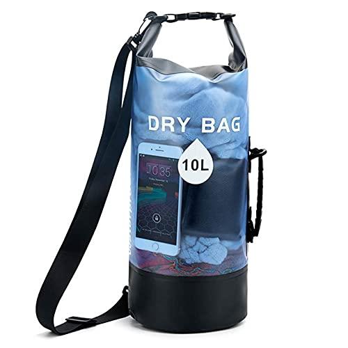 ZHAO Seac Dry Bag, Mochila Impermeable para Actividades Deportivas Bolsa Impermeable Bolsa Estanca Bolsa Seca Bolsa Estanca Impermeable, Unisex Adulto Blue-10L