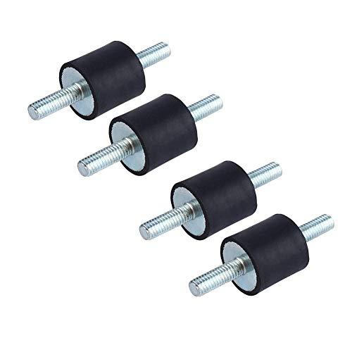 4 piezas aislador de goma antivibración M6, Amortiguador de choque de la bomba del compresor de aire con los tornillos, 20 * 20