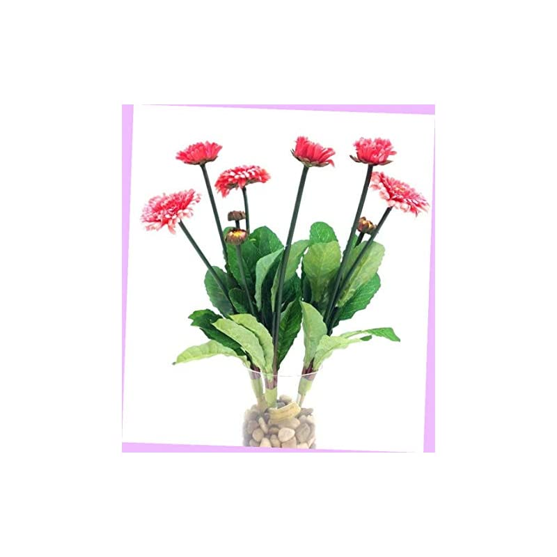 "silk flower arrangements artificial mini aster spray stems pink 3 per order 14"" t 1"" & 2"" blooms silk artificial flowers bouquet realistic flower arrangements craft art decor plant for party home wedding decoration"