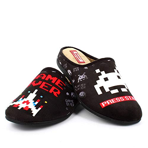 Zapatillas inspiradas en Space Invaders cómodas Andar por casa - Gamer Retro (Numeric_44)