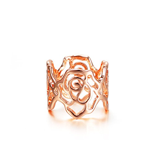 Barbie anello da ragazza e donna, anello ovale, anello dalla forma a fiore, anello oro, anello di squisita fattura #BSJZ021 (16.9)