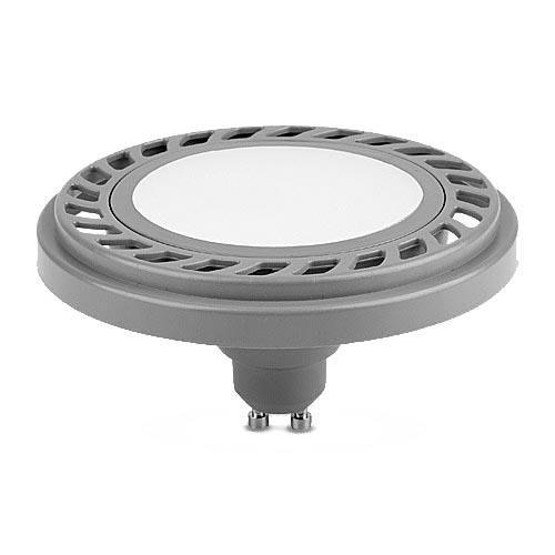 LED ES111 GU10, LED AR111 GU10 9W 230V LED Lampe, LED Strahler 9W 800LM Milchig Warmweiß 220-240V (Silber WW)
