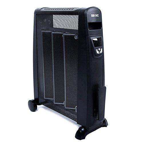 Duronic HV052 Radiador Eléctrico 1500W de Panel de Mica - Estufa sin Aceite Que calienta en 1 Minuto – Control por Pantalla Digital - Bajo Consumo y Ligero