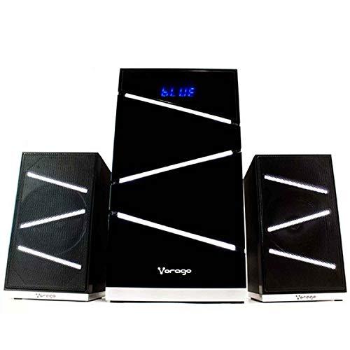 Vorago SPB-400 Home Audio Micro System 12W Negro Sistema de Audio para el hogar – Microcadena (Home Audio…