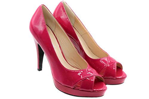 Pinko Pumps Peeptoes Plateau High Heels sexy Leather Pump Pink Fuchsia Sandale EU Gr. 37 Sandalette Neu New OVP