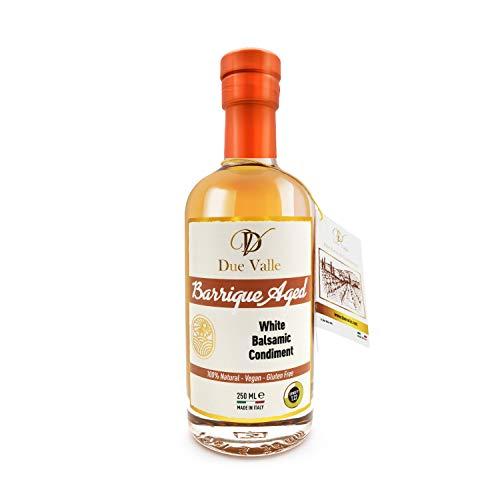 Due Valle Barrique Vinagre Balsámico Blanco Envejecido / Aged White Balsamic Condiment - Notas de Melocotón Dulce
