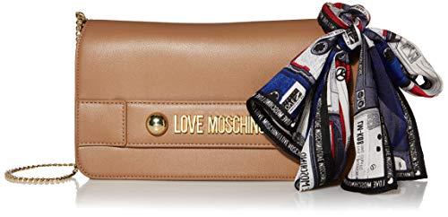 Love Moschino - Borsa Small Grain Pu, Carteras de mano Mujer, Beige (Cammello), 14x26x3 cm (W x H L)