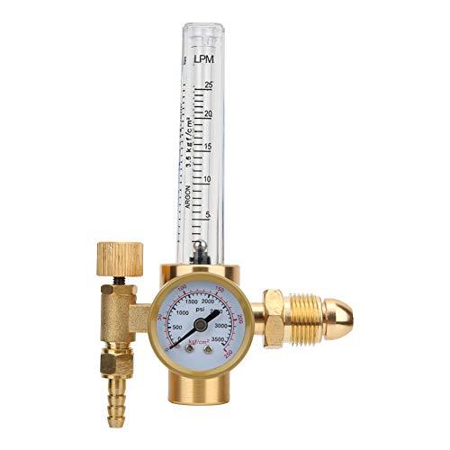 Riduttore di gas del regolatore dell'argon in ottone, filettatura maschio G5/8 CGA580 Connettore maschio per operazioni di saldatura ad arco con argon TIG,funzionamento con argon della saldatrice ad