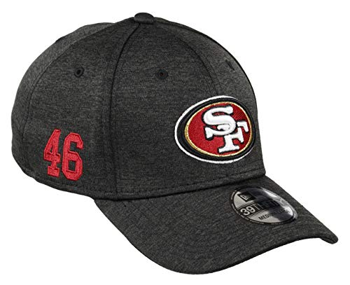 New Era San Francisco 49ers 39thirty Stretch Cap NFL Established Number Black...