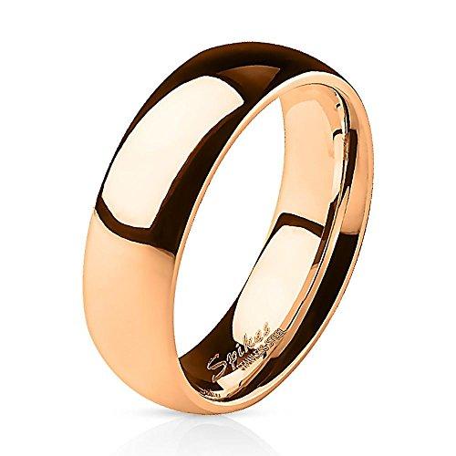 Bungsa 67 (21.3) Rotgold Ring schmal Edelstahl für Damen & Herren 49-67 (Rosegold Rosé edel klassisch Fingerring Schmuckring Partnerringe Verlobungsringe Trauringe Damenring Chirurgenstahl Frauen)