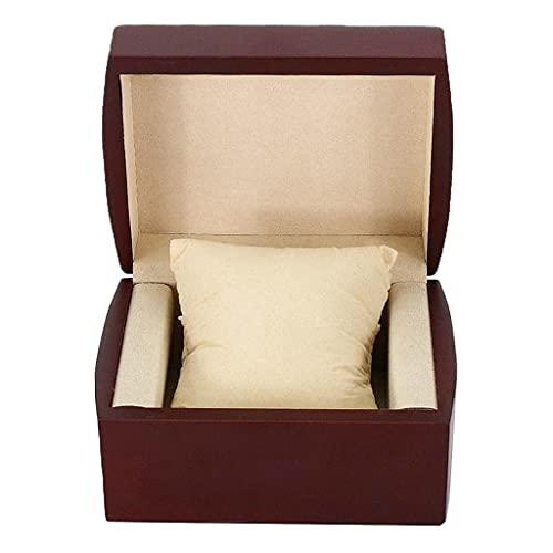 Caja de almacenamiento de reloj de madera para hombre, tamaño de viaje para pulsera de reloj, por defecto