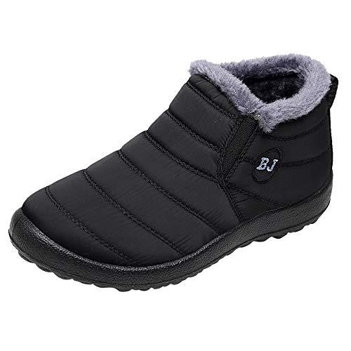 MAYOGO Schneeschuhe Herren&Damen Paar Winter Baumwolle Klassische Stiefel Warm Gefüttert,Outdoor Boots Arbeitsschuhe,Wasserdicht rutschfest Kurze röhre 39-46