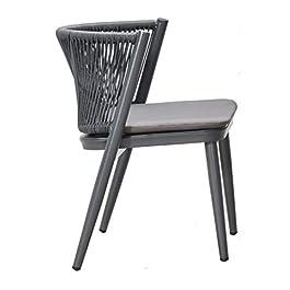 Chaise, Chaise de Balcon extérieur, Chaise de Combinaison de Loisirs, Chaise en rotin Imitation en Deux pièces, Cadre en…