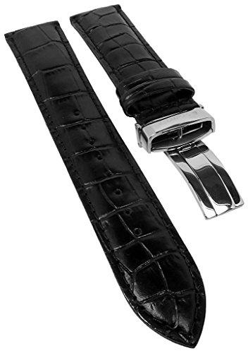 Correa de repuesto para reloj Casio Edifice de piel negra EFB-503SBL 22 mm