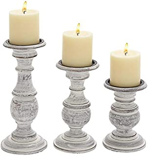 Best rustic white candle holders Reviews