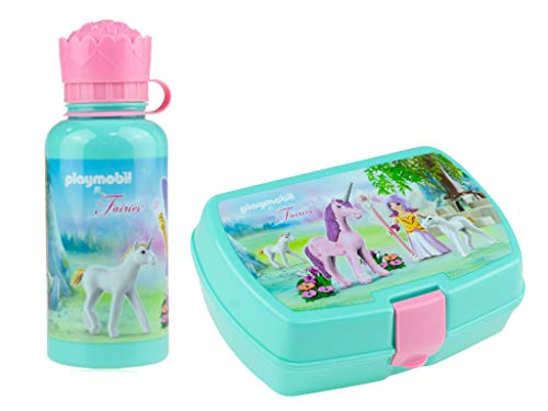 Playmobil Fee paarden eenhoorn broodtrommel drinkfles lunchbox lunchset